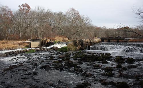 The Bradford Dam from downstream. (Nils Wiberg/Fuss & O'Neill)