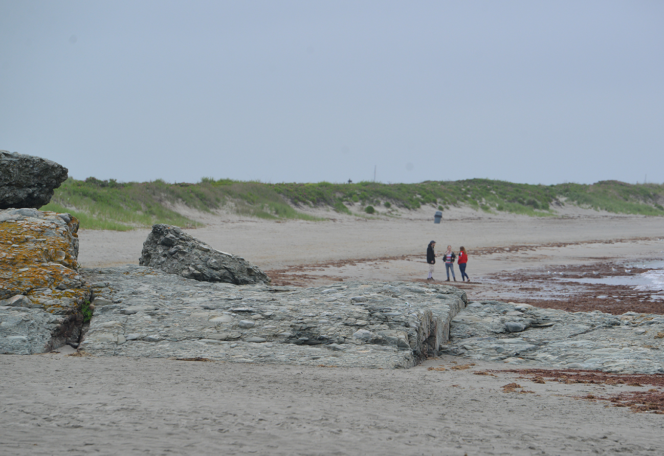 Green infrastructure is a low-cost way of protecting the water quality of some of Aquidneck Island's favorite beaches, such as Second Beach in Middletown, R.I. (Joanna Detz/ecoRI News photos)