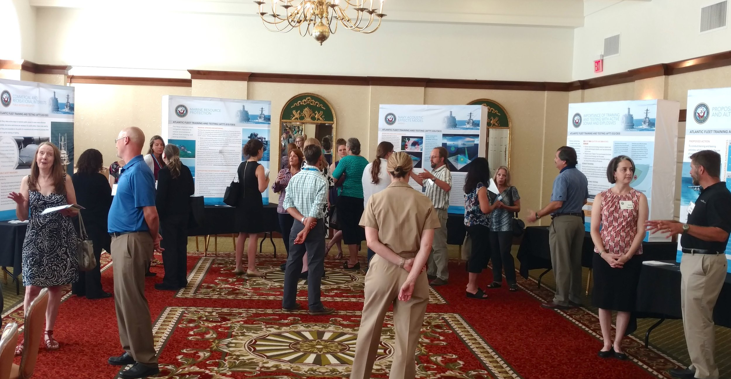 The July 19 open house at Hotel Providence didn't offer a speaking forum as some expected. (Tim Faulkner/ecoRI News)