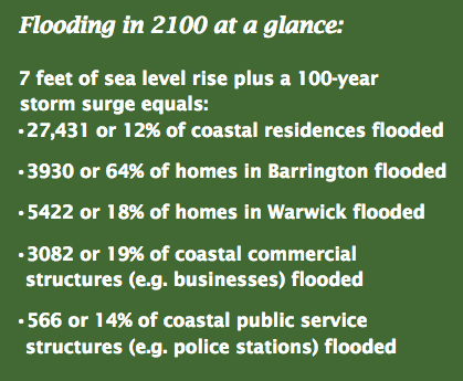 North Kingstown, for one, has partnered with state institutions to map and assess the town's vulnerability to projected sea-level rise. (CRMC)