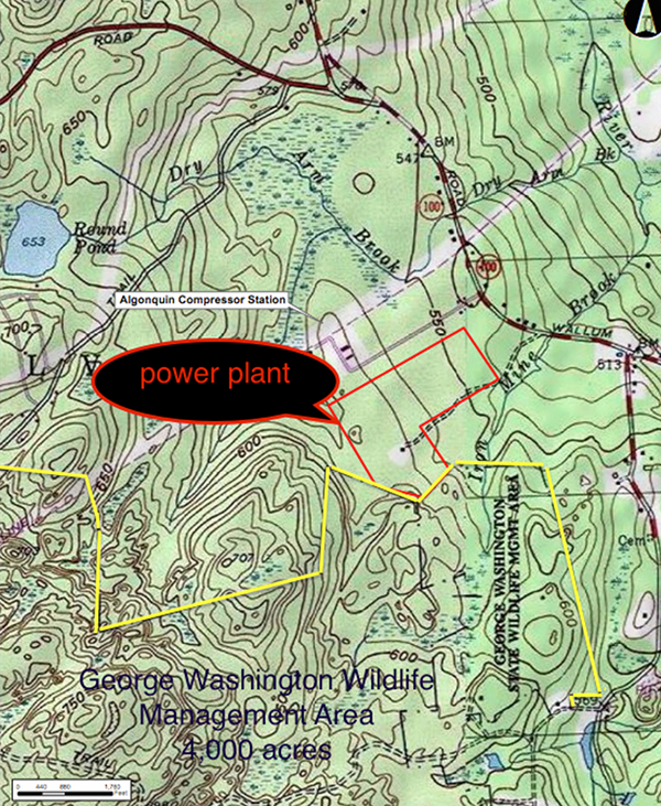 The proposed Clear River Energy Center would border the 4,000-acre George Washington Management Area.