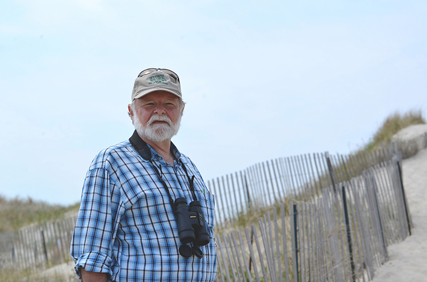 URI professor Peter August has refined the use of mapping technology to better manage natural resources, such as Napatree Point in Westerly, R.I. (Joanna Detz/ecoRI News)