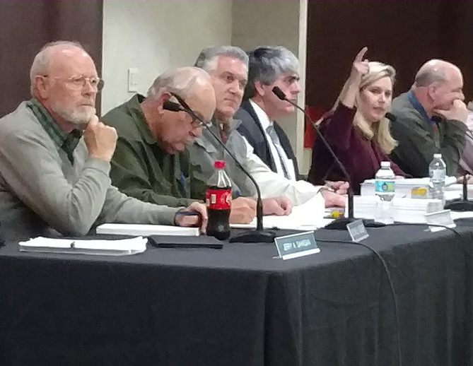 The CRMC board approved, 8-0, its review of the LNG cooling facility slated for the Providence waterfront. (Tim Faulkner/ecoRI News)