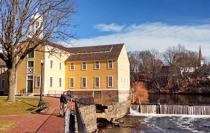 Slater Mill, a historic textile mill complex on the banks of the Blackstone River in Pawtucket, attracts some 30,000 visitors annually. (ecoRI News)