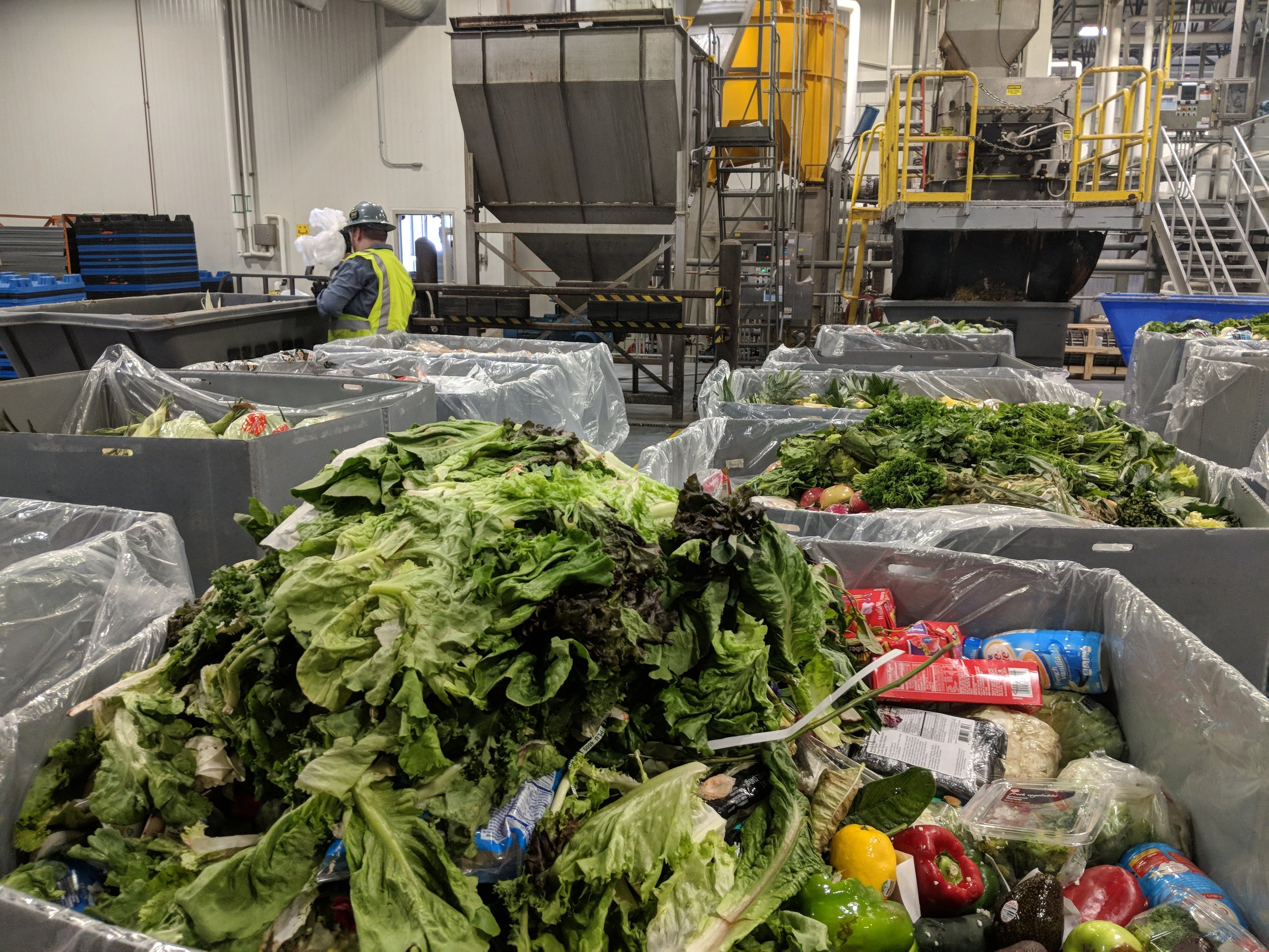 All packaging and inedible food is kept out of the waste stream.
