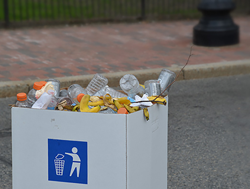 The amount of plastic waste generated at outdoor events, such as road races, adds up quickly. Food scrap is also routinely wasted. (ecoRI News)