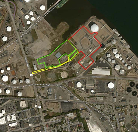 The project has been proposed on the Providence waterfront where another LNG facility already exists. (FERC)