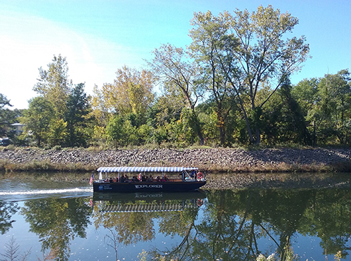 The riverboat the Explorer has been exploring the Blackstone River for 25 years. (Patricia McAlpine)