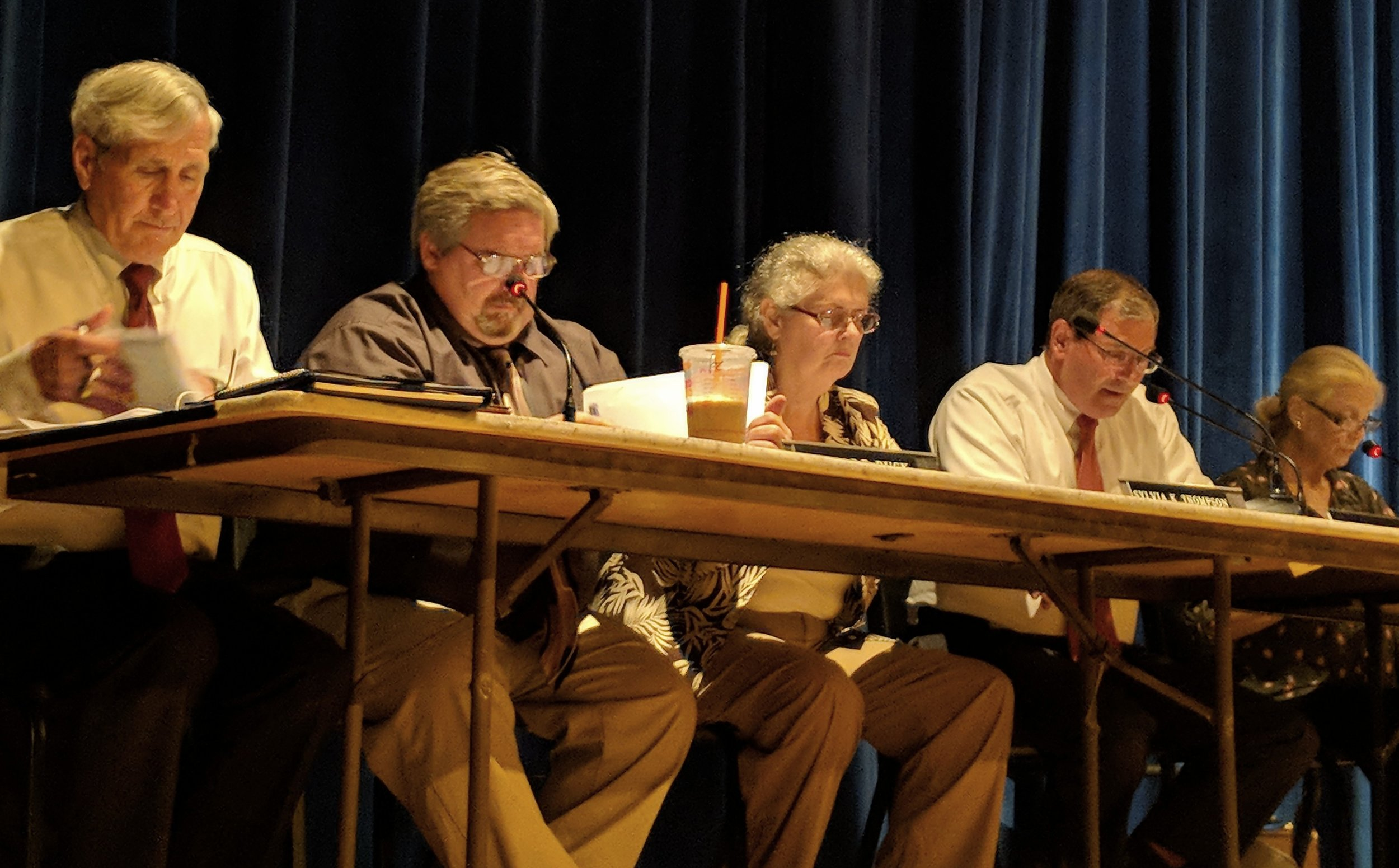 The Hopkinton Town Council. (Tim Faulkner/ecoRI News)