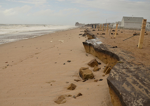 Up and down the southern New England coast, erosion is happening faster than the rate of recovery for beaches and wetlands. (R.I. Sea Grant)
