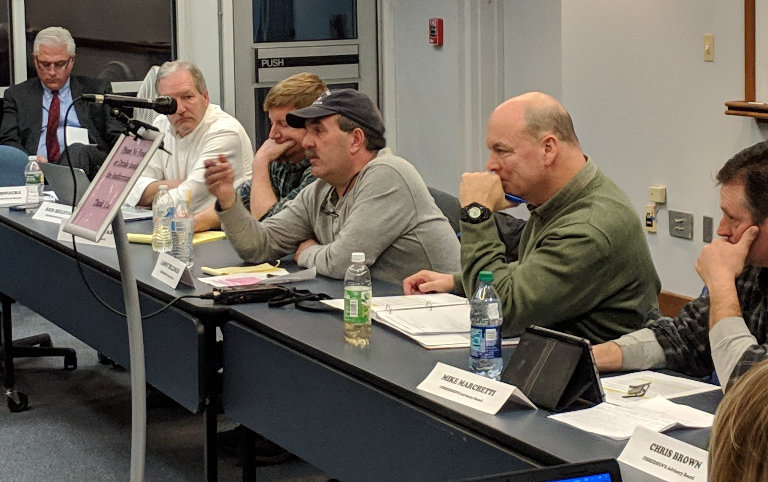 The Fishermen's Advisory Board made a motion to deny the Vineyard Wind project. (Tim Faulkner/ecoRI News)