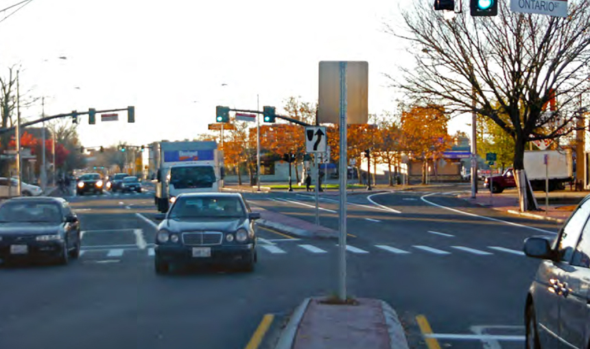 Four years ago, when the Rhode Island Department of Transportation repaved Elmwood Avenue, it chose not to incorporate separated bicycle lanes. (Complete Streets Action Plan)