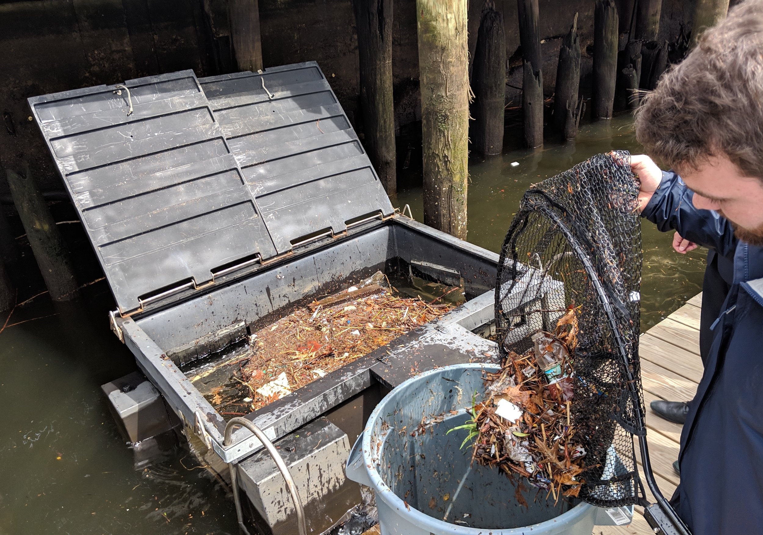 Trash Skimmers Collect Plastic Waste in Local Harbors — ecoRI News