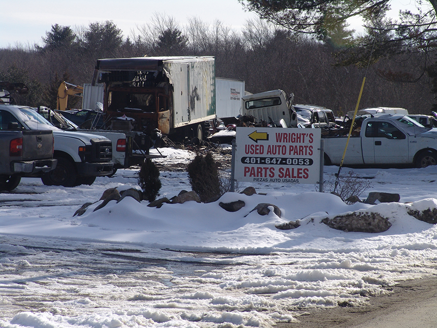 Twice in the past five months the Rhode Island Department of Environmental Management has taken action against Wright's Auto Parts. (ecoRI News)