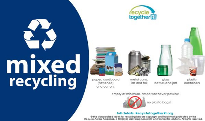 The rules to recycling in Rhode Island are simple and help keep contamination to a minimum. (RIRRC)