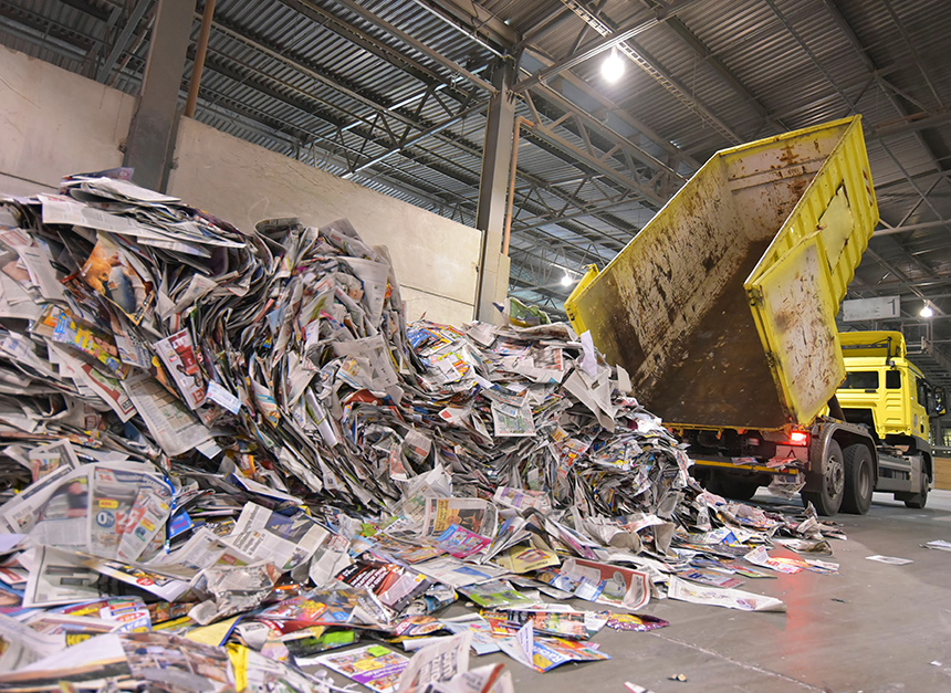 The price for mixed paper recycling dramatically declined when China changed its policy two years ago. (istock)