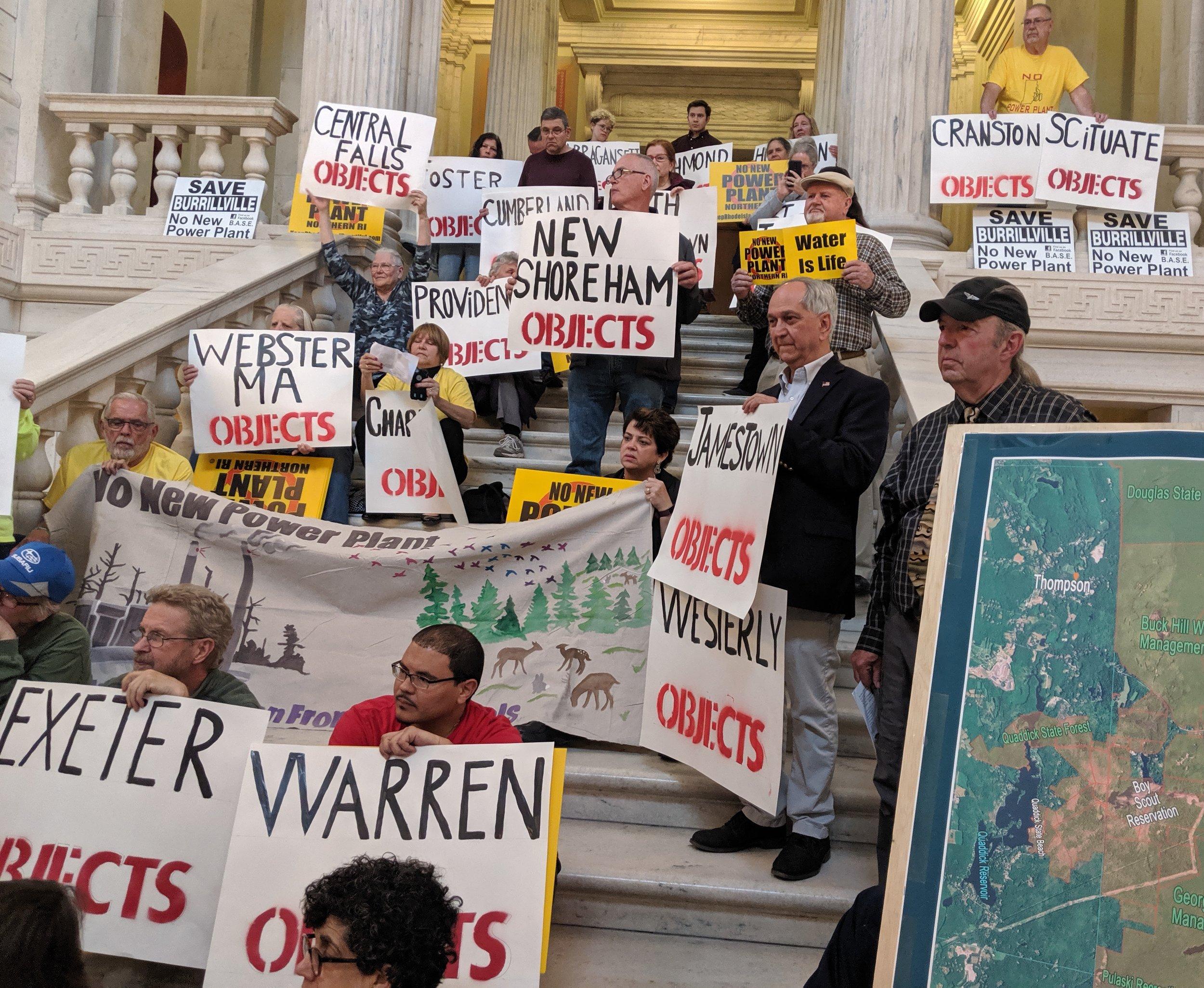 Thirty-nine communities in Rhode Island, Massachusetts, and Connecticut oppose the proposed Burrillville power plant. (Tim Faulkner/ecoRI News)