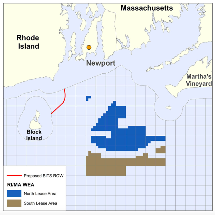 The Connecticut and Rhode Island portions of the Revolution Wind facility will be in the federal North Lease Area. (Bureau of Ocean Energy Management)