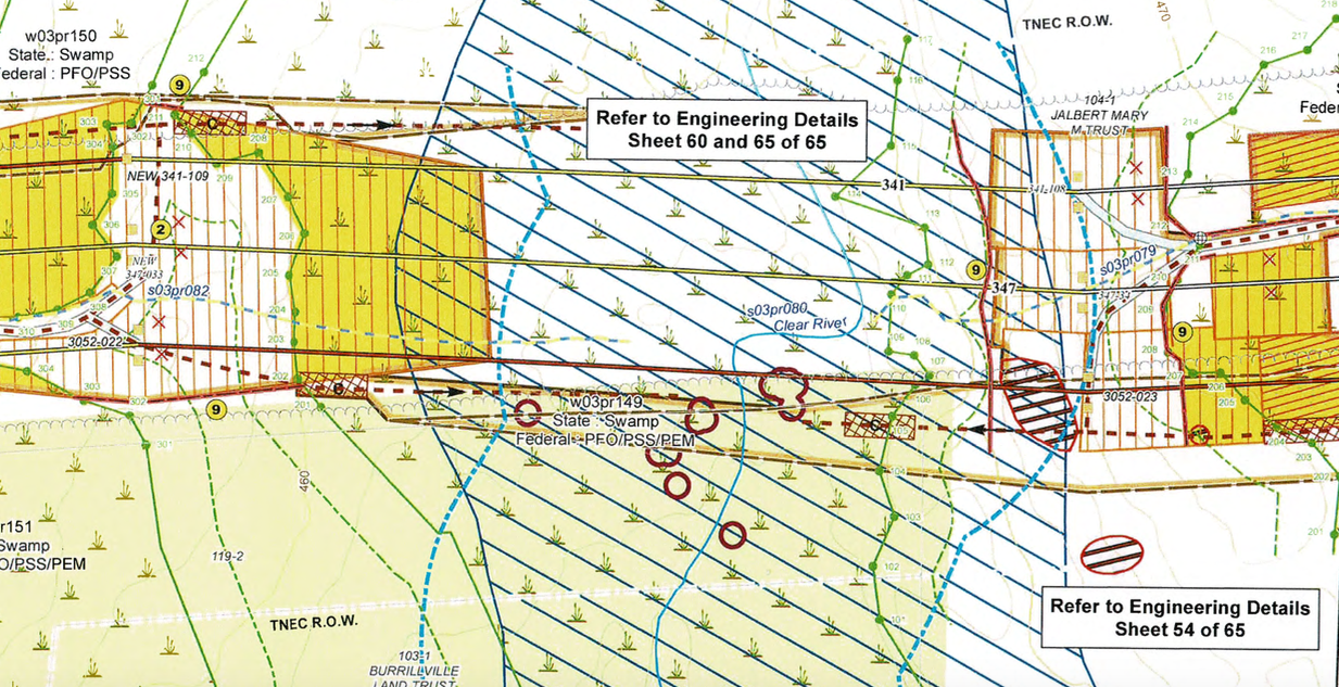 A wetland permit is needed to alter the Clear River for new electric power lines. (Army Corps of Engineers)