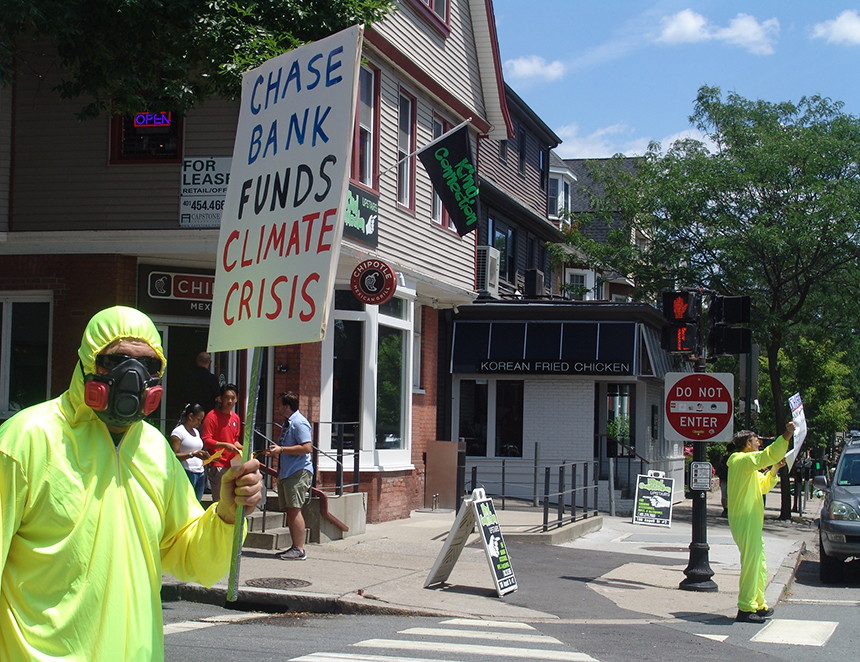 Chase Bank is responsible for $1 out of every $10 of fossil-fuel financing.