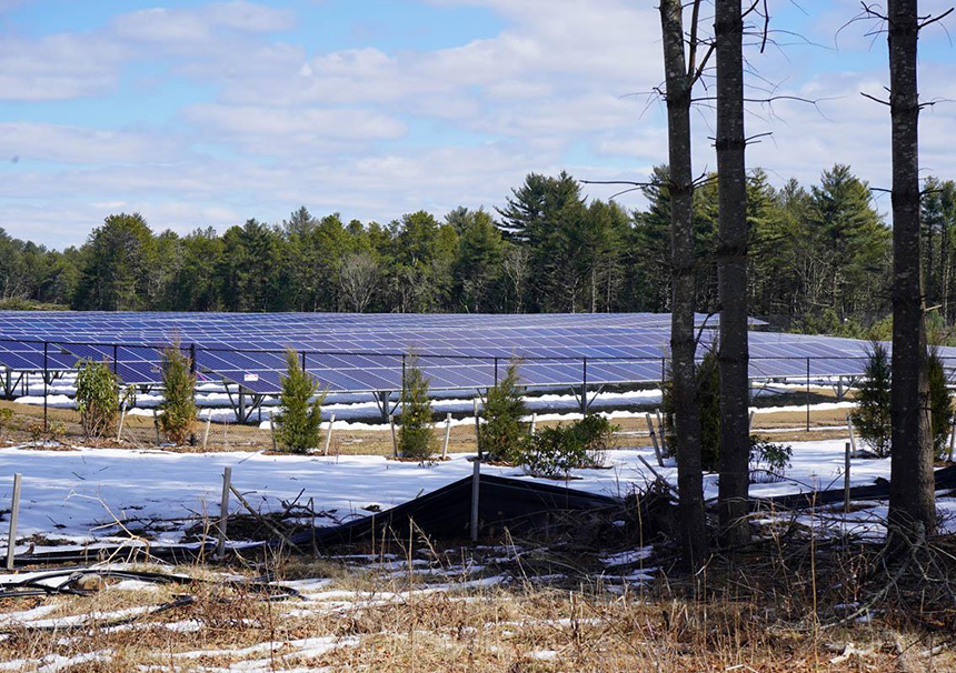The town of Richmond is one of several Rhode Island municipalities taxing both the equipment and the land beneath ground-mounted solar facilities. (Cliff Vanover/for ecoRI News)