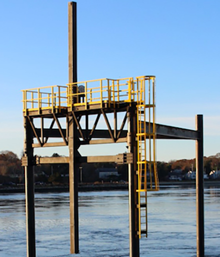A tidal current platform in the Cape Cod Canal will soon test its first underwater turbine. (Marine Renewable Energy Collaborative)