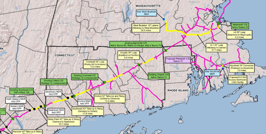 Several natural-gas projects have been built or are moving ahead in the Access Northeast plan. (Enbridge Inc.)