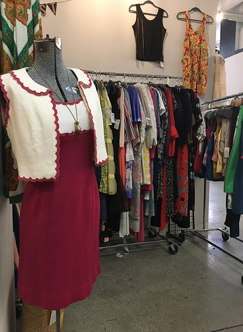 Vintage apparel is pricer than clothes at secondhand stores, but still less expensive and better for the environment than buying new clothes.
