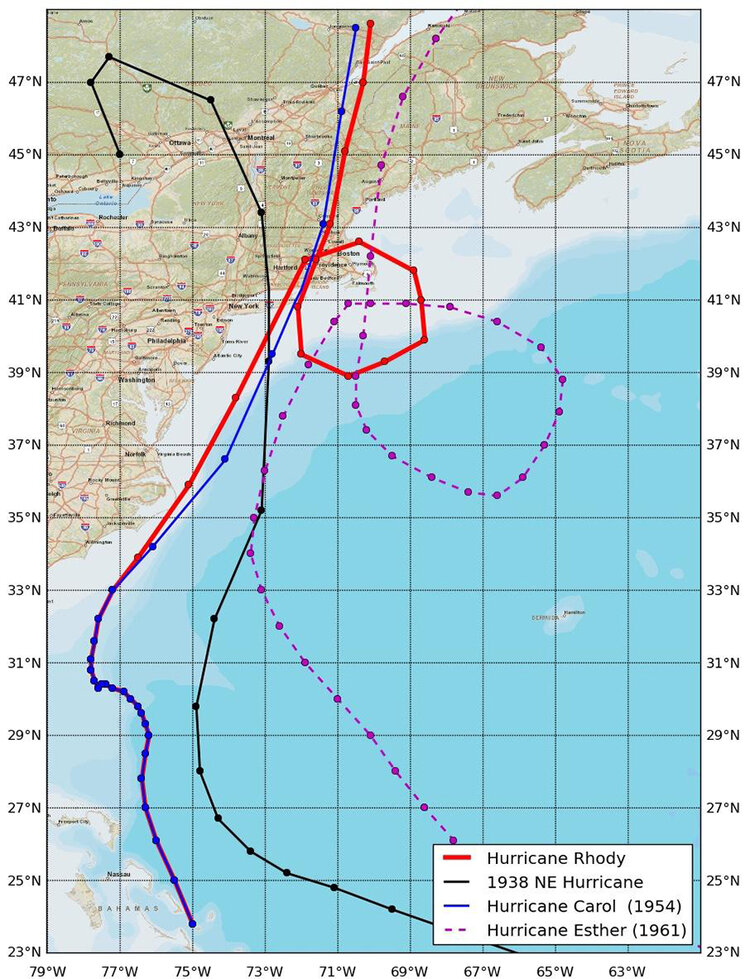 While this modeled hurricane is a worst-case scenario, it's likely a major hurricane will hit Rhode Island in the next 80 years. (Isaac Ginis/University of Rhode Island)