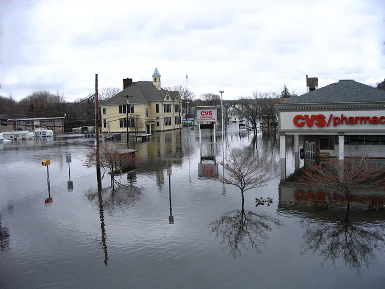 The floods of March 2010 left much of Warwick and West Warwick underwater. This problem will happen again when a major storm hits Rhode Island. (David Vallee)