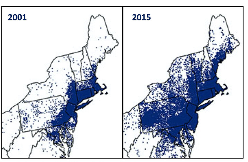 Incidences of Lyme disease in the Northeast are expanding. (U.S. Department of Health and Human Services)