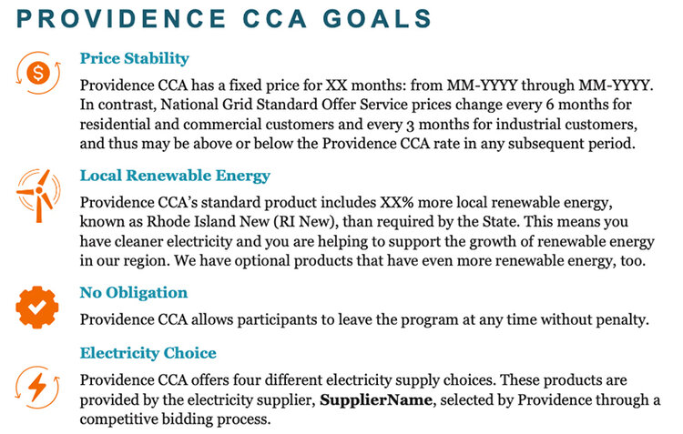 The benefits of community-choice aggregation for the city of Providence. (Good Energy LP)
