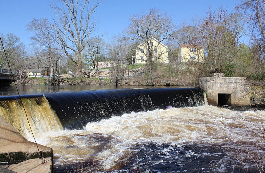 The work could lead to the partial or complete removal of the Potter Hill Dam in Westerly, R.I. (TNC)