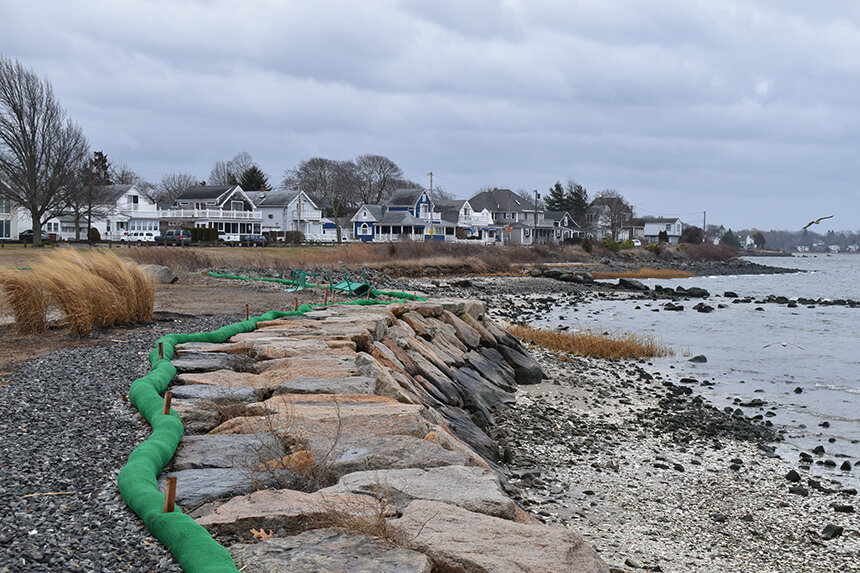 Barrington's Bay Spring neighborhood, along the banks of where the Providence River meets Narragansett Bay, is one of the state's most exposed areas. (Frank Carini/ecoRI News)