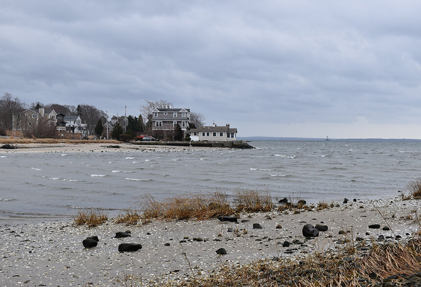 Up until the middle of the 20th century, Allin's Cove in Barrington was bordered by about 30 acres of salt marsh. Much of that marsh is now gone, filled in to accommodate development. (Frank Carini/ecoRI News)