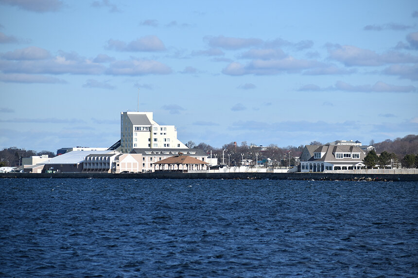 Sea-level rise puts Newport, the Ocean State's unofficial tourism capital, at risk. (Frank Carini/ecoRI News)