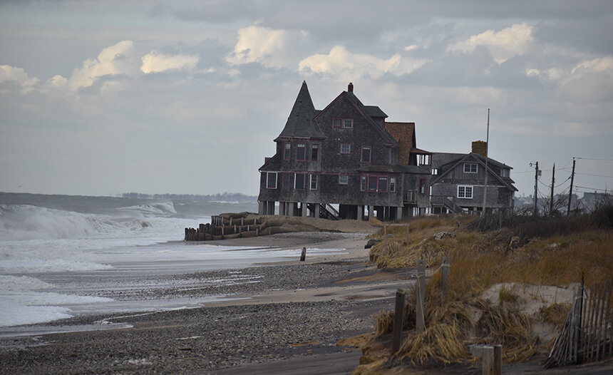 This Browning cottage, one of three left, is one of the last on-sand beach houses in Rhode Island.
