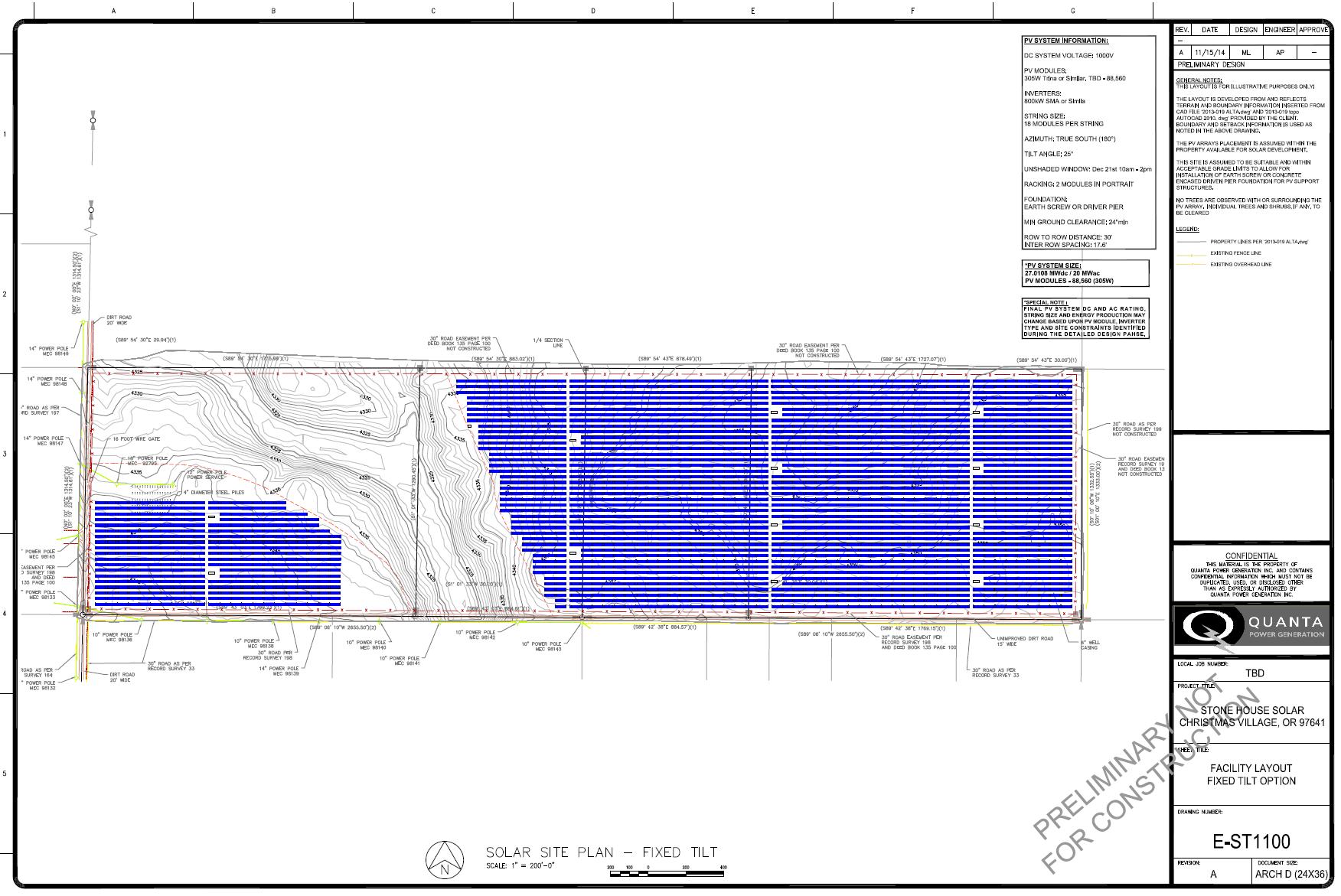 20 MW-ac / 27 MW-dc Site Layout