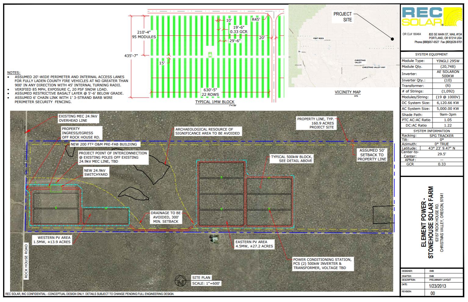 5 MW-ac / 7 MW-dc Site Layout