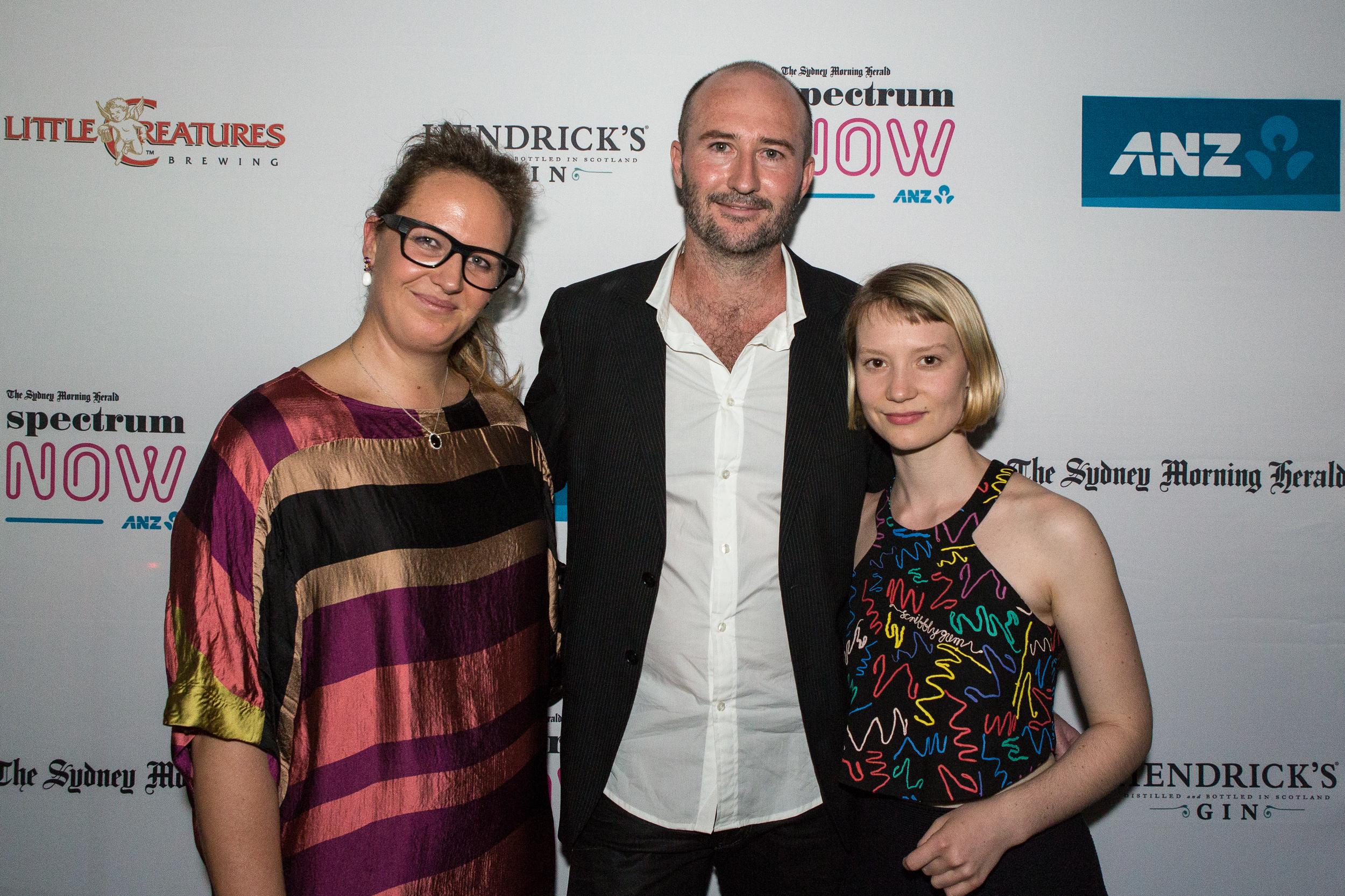 Del, Brendan & Mia Wasikowska, Sydney Premiere