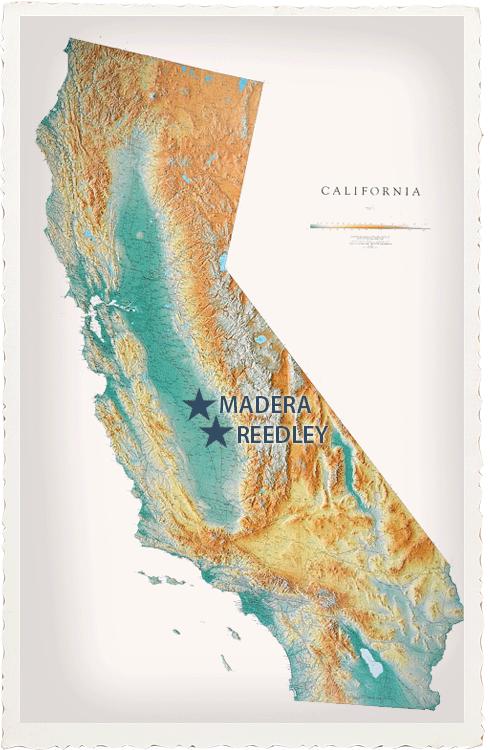 Reedley and Madera, CA