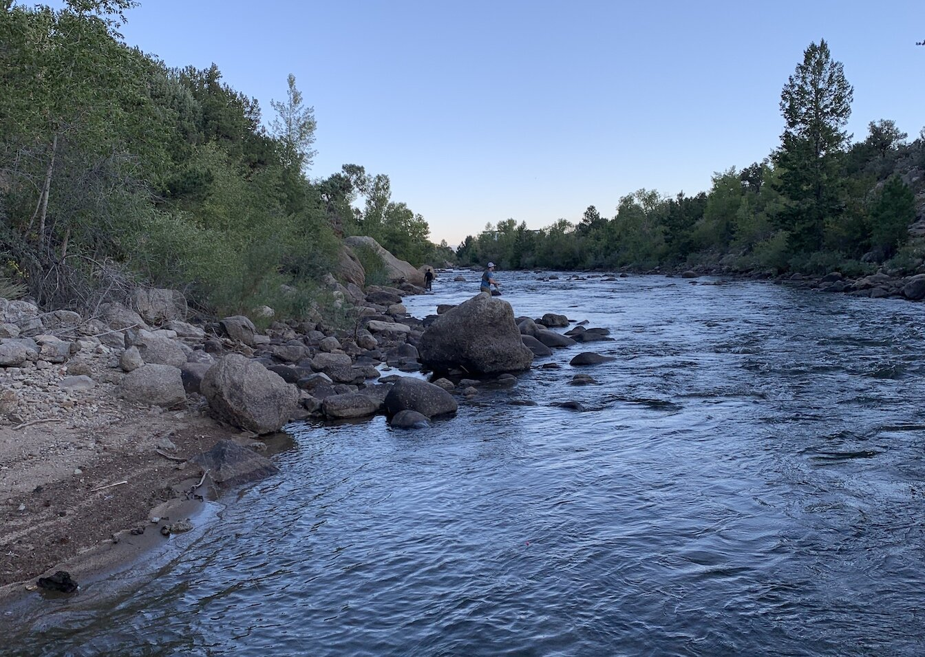 A serene stretch of the Arkansas River