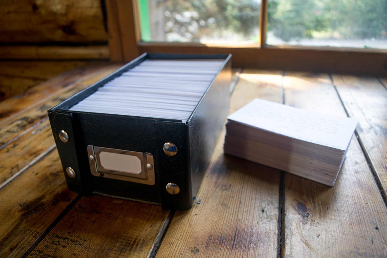 commonplace book shoebox
