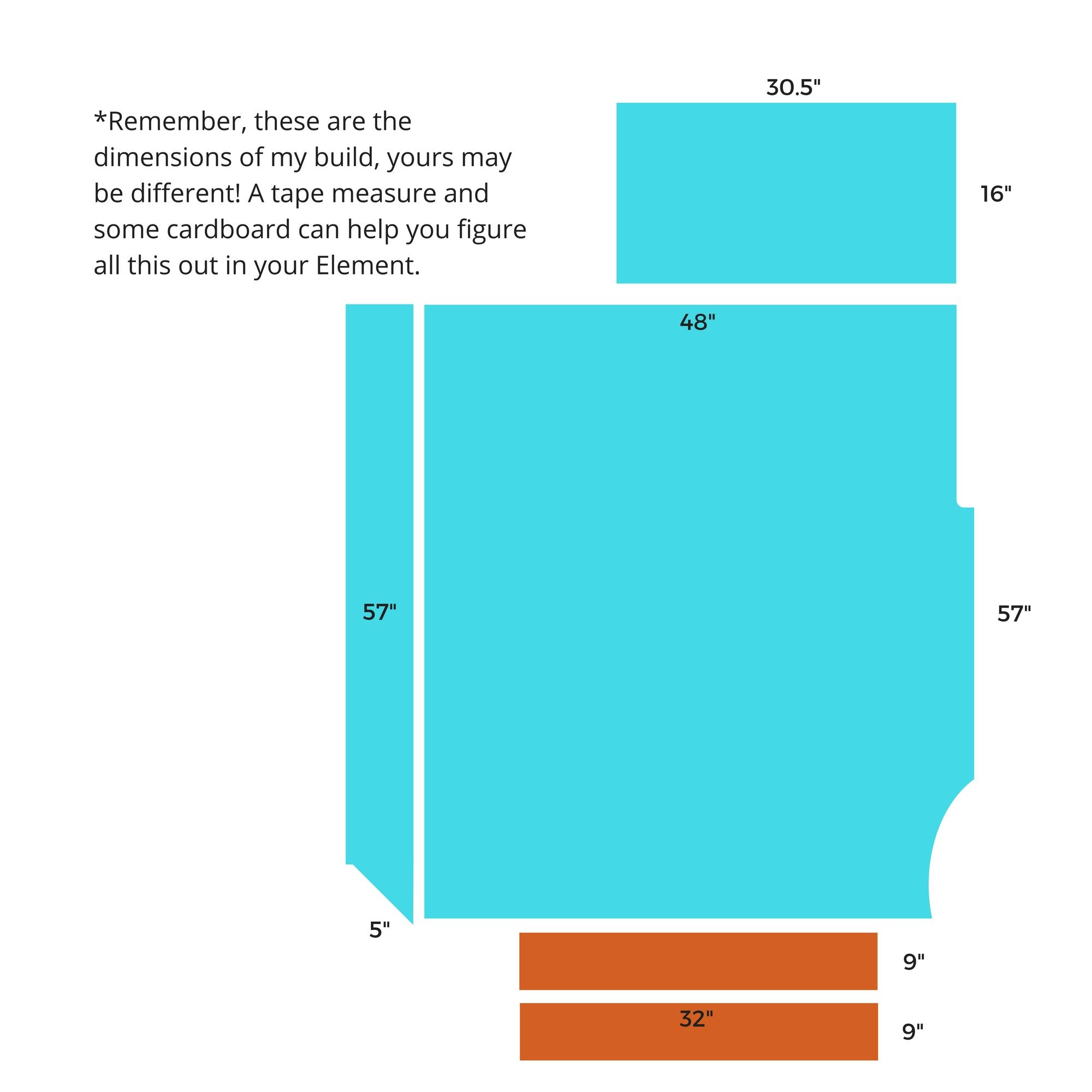 platform bed dimensions