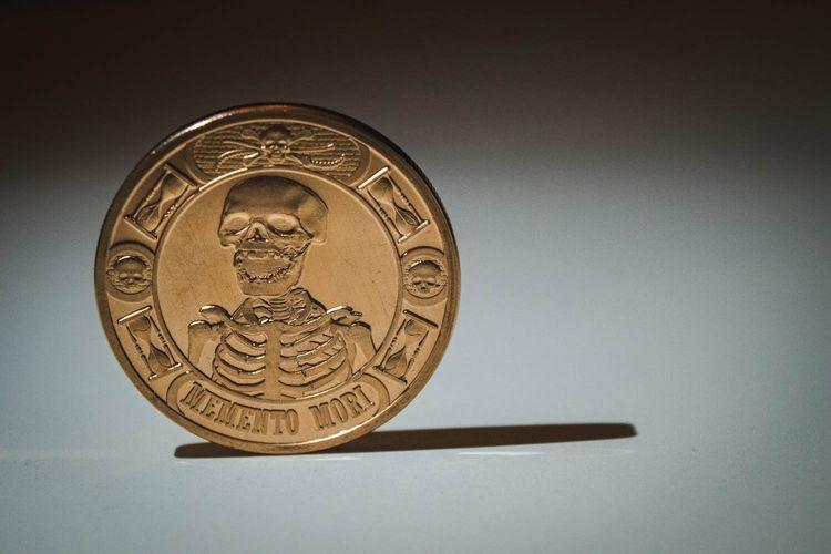 Memento Mori Coin - A reminder of mortality that I always carry in my left pocket. Why? Read this.