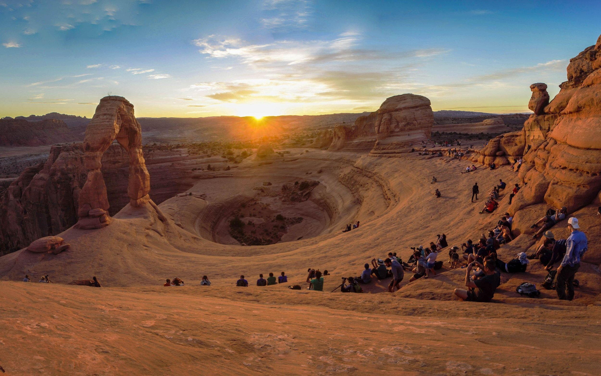 Sharing a surreal sunset in Arches National Park.