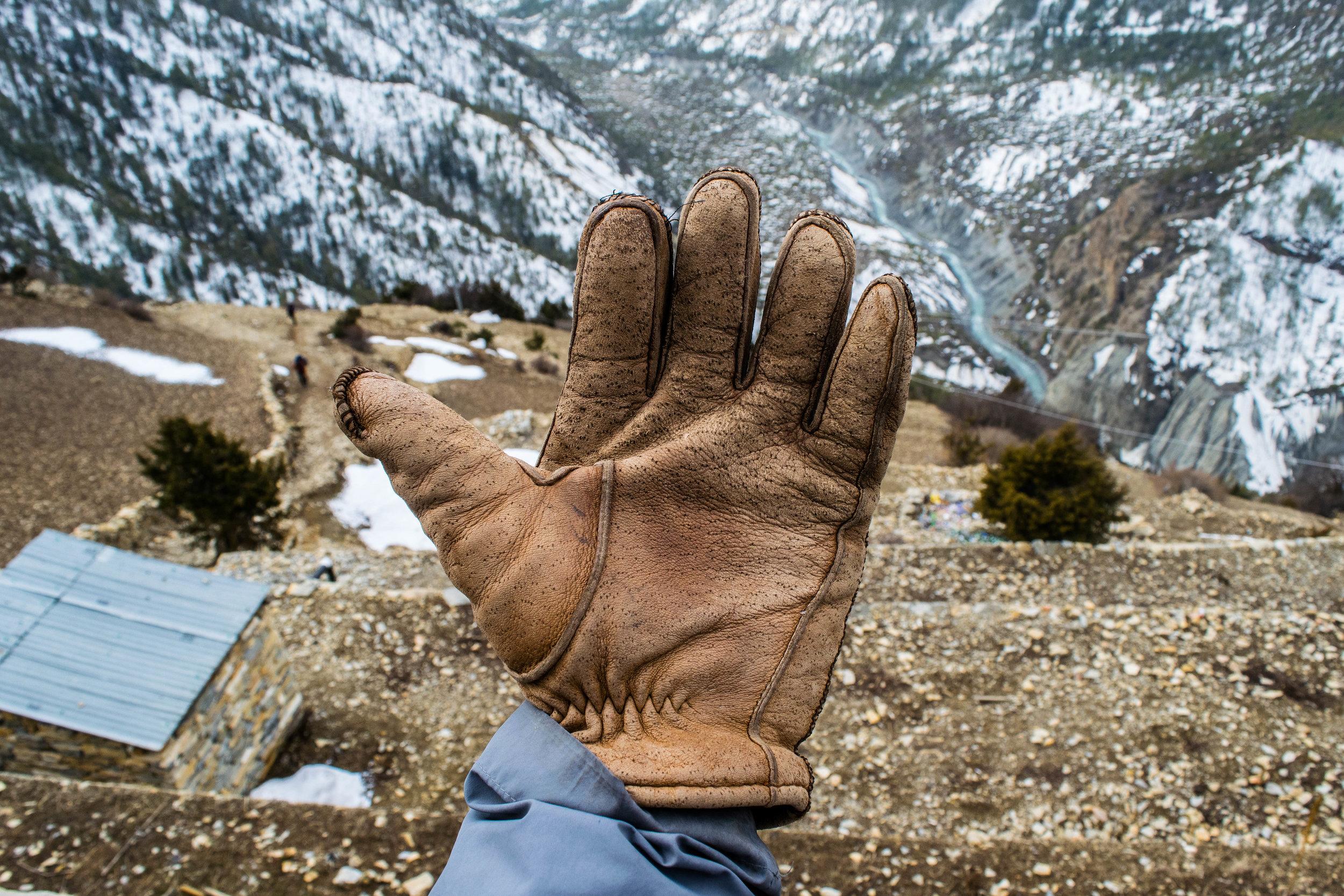 my dad's gloves
