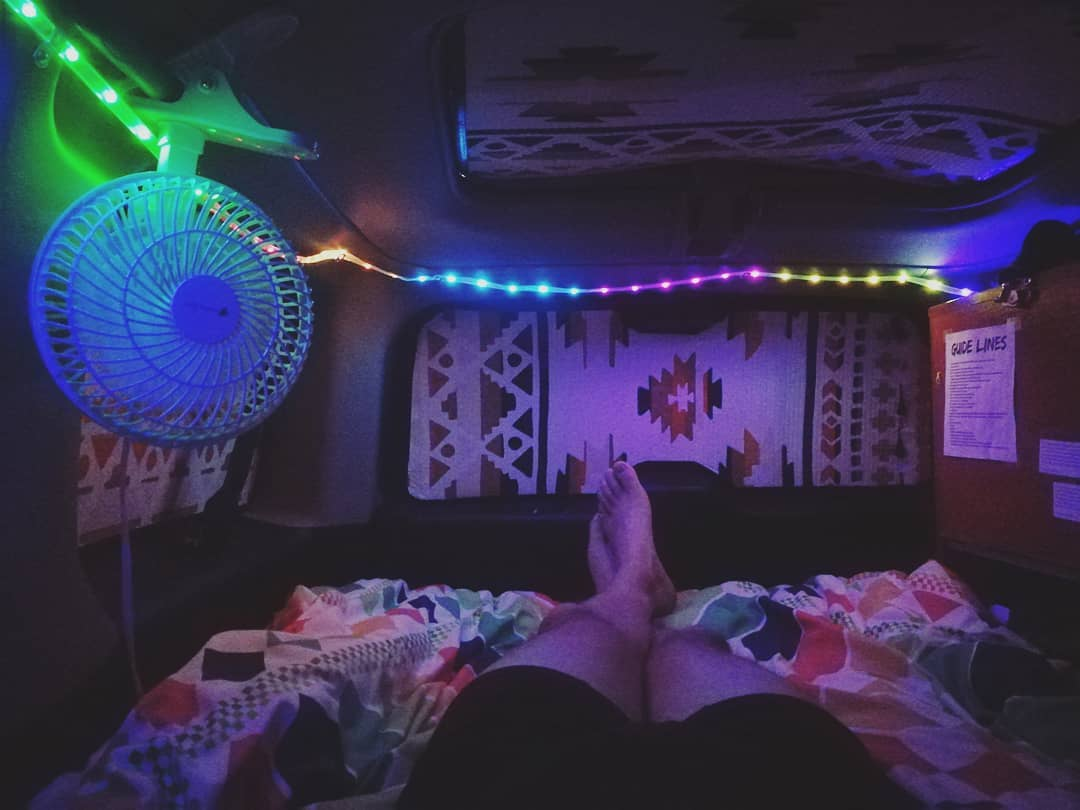 A night in my Honda Element converted home on wheels.