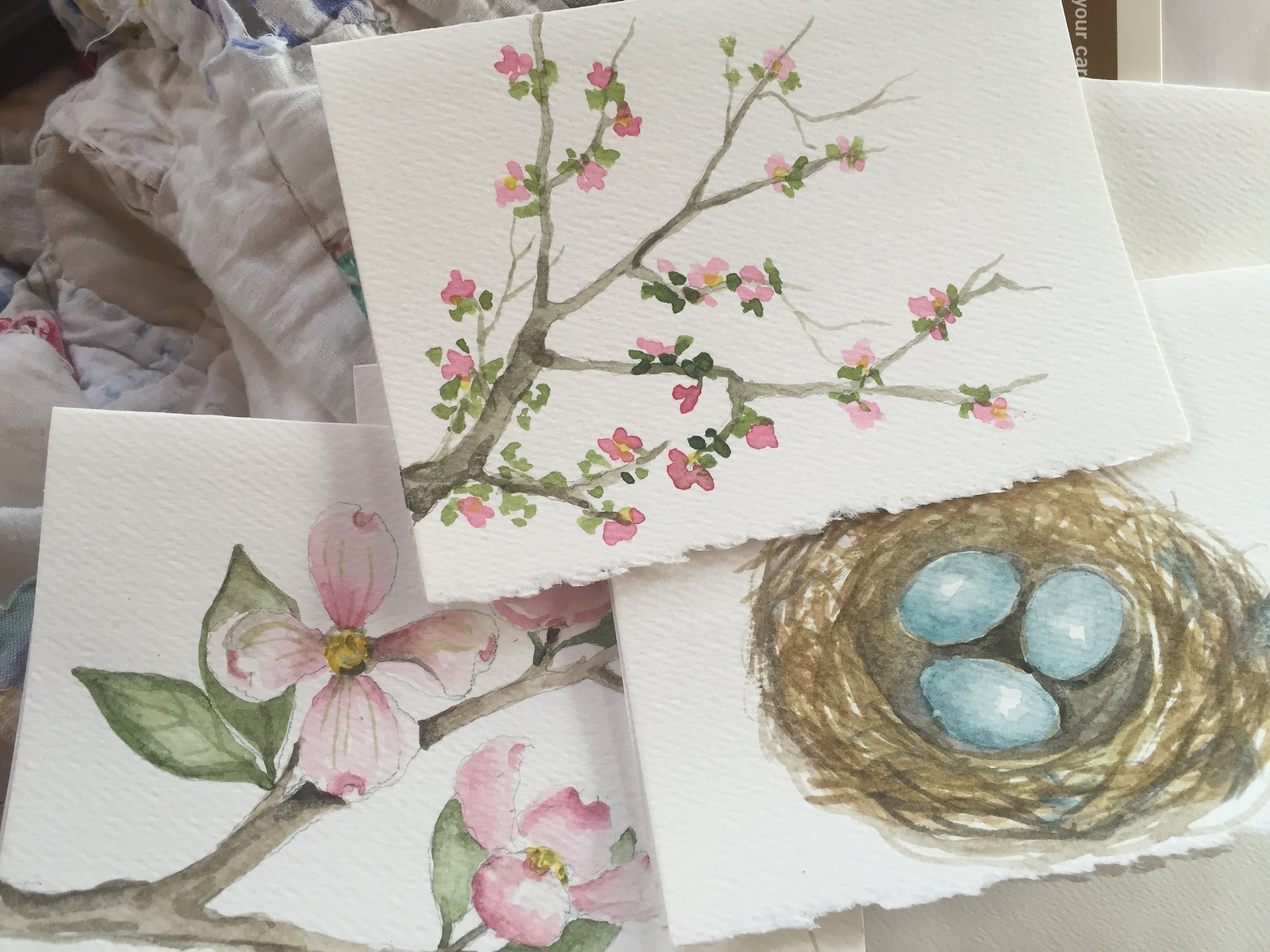 """Watercolor Cards of Nature"" by Melody Weintraub"
