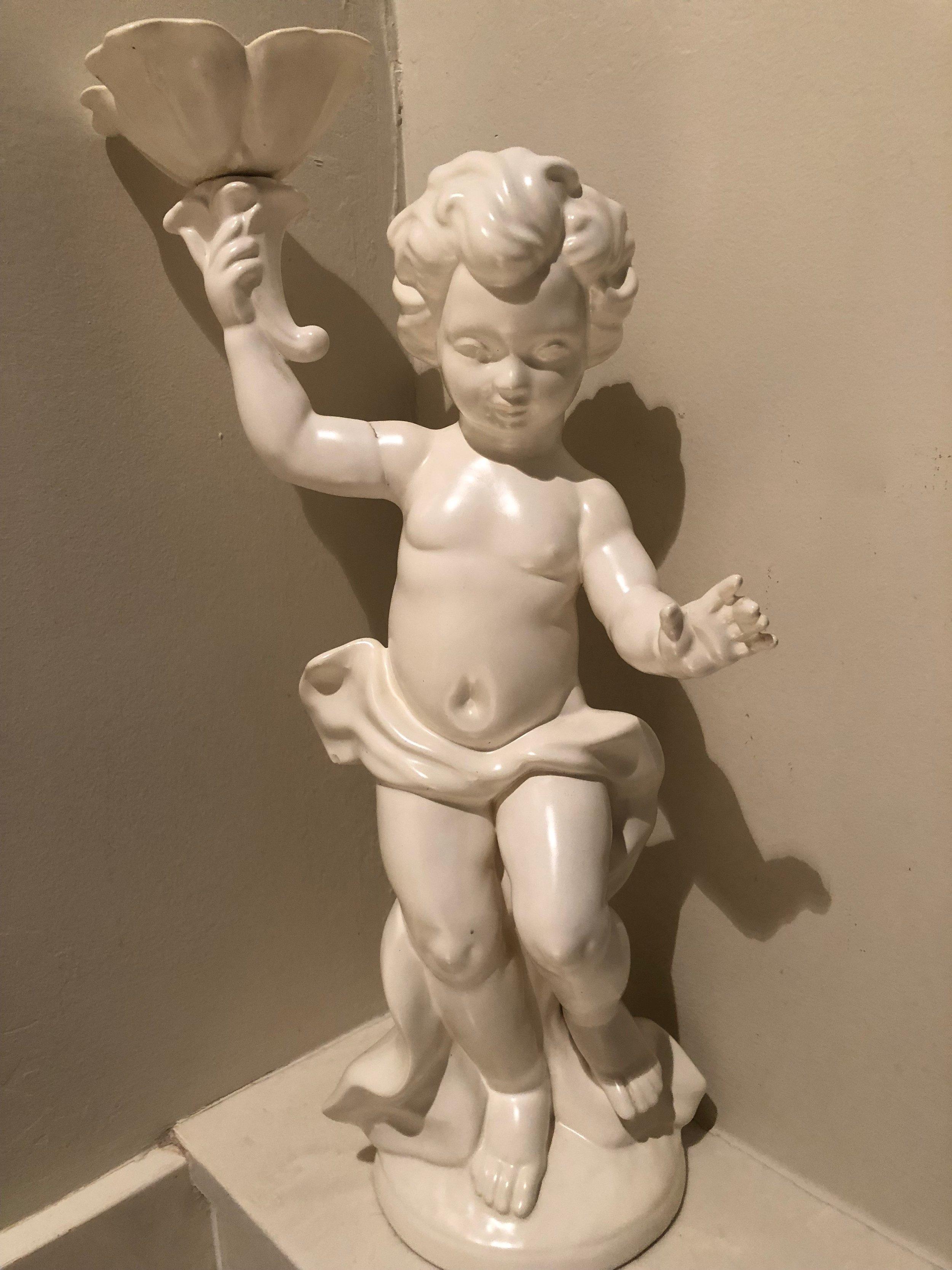 """Ceramic Cherub,"" glazed by Ruth Hryhorchuk (circa 1968). Photo by Melody Weintraub."